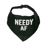 Needy AF Pet Bandana Collars in Black and White