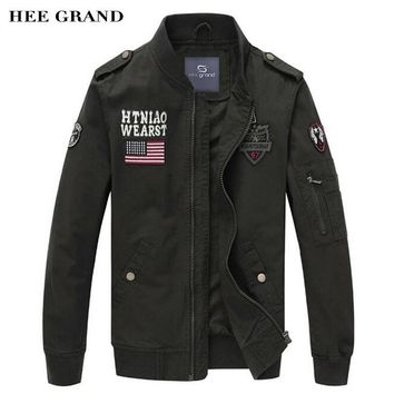 HEE GRAND Men's Slim Fitted Military Style Jacket/Coat