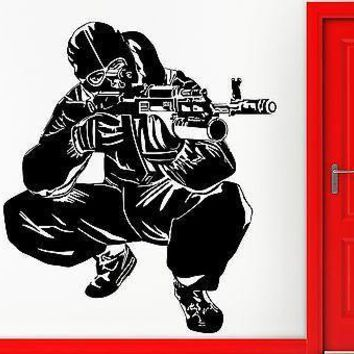 Wall Stickers Vinyl Decal Army Special Forses AK-47 Military Decor  Unique Gift (z2329)