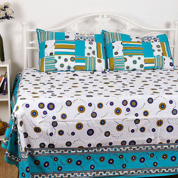 Cotton Bed Sheets, Indian Bedsheet, Printed Bed Sheets, Indian Bed Sheets, Rajasthani Bedsheet, Bed Sheet