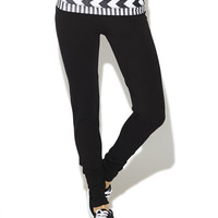 Chevron Stripe Skinny Yoga Pant | Wet Seal