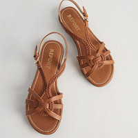 Boho Braid for Walkin' Sandal in Cognac