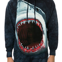 The Shark Bite Pullover Hoodie in Navy