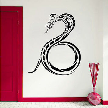 Wall Decals Snake Reptile Decal Living Room Bedroom Home Decor Sticker Art MR500