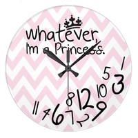 Whatever, I'm a Princess - pink and white chevron