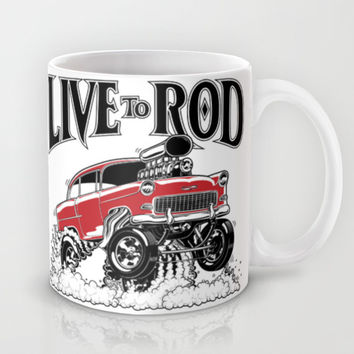 1955 CHEVY CLASSIC HOT ROD Mug by SCREAMNJIMMY