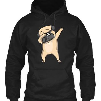 Dabbing Pug Shirt   Cute Funny Dog Dab T