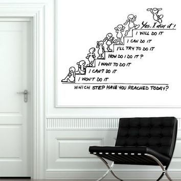Wall Decals Quote Motivation Which Step Have You Reached Today Decal Stairs To The Top