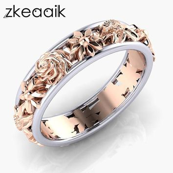 2018 NEW Silver/gold color Female Rings Vine Wave Pattern Vintage Style Rings High Quality Jewelry Sister Gift Wedding ring
