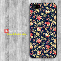 iPhone 5 case iPhone 5c case iPhone 5s case iPhone 4 case iPhone 4s case Vintage flower print design