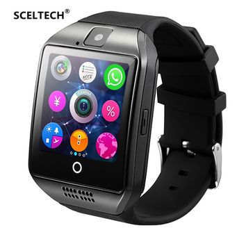 SCELTECH Bluetooth Smart Watch S1 With Camera Facebook Whatsapp Twitter Sync SMS Smartwatch Support SIM TF Card For IOS Android