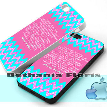 Audrey-Hepburn-Quote-Chevron - Print on hardplastic for iPhone 4/4s and 5 case, Samsung Galaxy S3/S4 case.