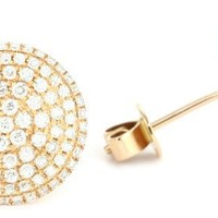"Dana Rebecca Designs ""Carly Michelle"" 14k Rose Gold Diamond Earrings"