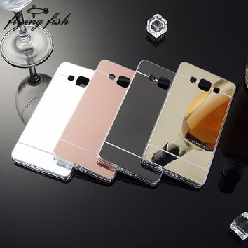 Plating Mirror Case Soft TPU Back Cover For Samsung Galaxy A3 A5 A7 2016 J2 J3 J5 J7 S4 S5 S6 S7 Edge Plus Grand Prime