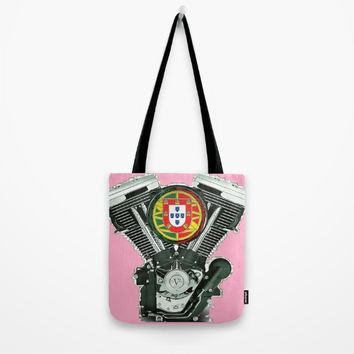 Portuguese pure evol hot  pink Tote Bag by Tony Silveira