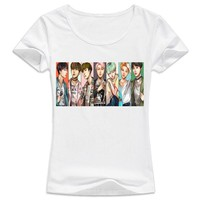 bts kpop hot new design 2017 t-shirt female Harajuku girl t shirt white k-pop bts runs poster funny Tshirt Women K POP Tops
