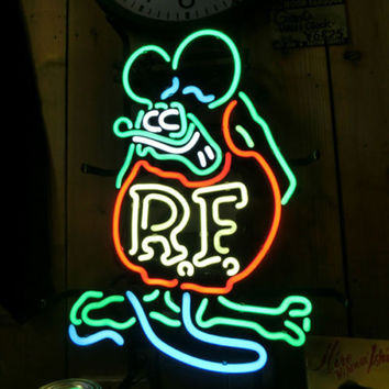 Rat Fink Rat Rod Neon Sign Real Neon Light