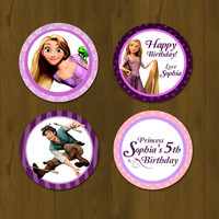 Tangled Rapunzel Cupcake Topper - Rapunzel Tangled Printable Cupcake Topper with Free Cupcake Wrapper (Disney Tangled)