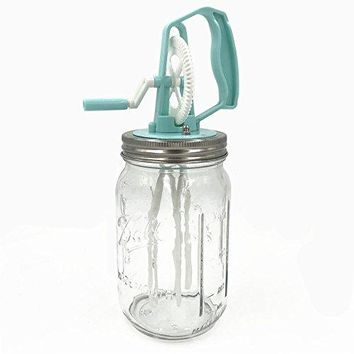 CHBKT 2 Piece 16 Oz Mason Jar and Stainless Steel Cocktail Shaker Set Mason Jar Shaker Lid with Silicone Seals for Regular Mouth Mason Ball Canning Jars Stainless Steel Jigger and Muddler