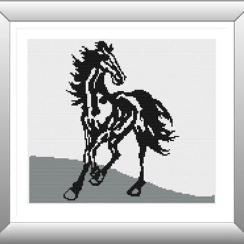 Cross Stitch Pattern,  Cross Stitch, Counted Cross Stitch, Cross Stitch Chart, Xstitchpatterns, Cross Stitch Horse Y615151