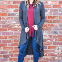 Hello Cozy Cardigan in Charcoal