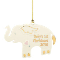 Lenox 2016 Baby's First Christmas Elephant Ornament
