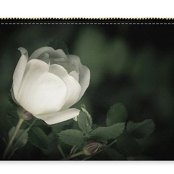 White Flower Of A Dogrose Carry-all Pouch