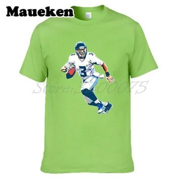 Men Russell Wilson 3 Seattle T-shirt Clothes T Shirt Men's tshirt for Seahawks fans gift o-neck tee W17121503