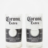 Recycled Beer Bottle Glass - Set of 2