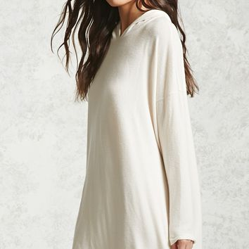 Boxy Hooded Sweater Dress