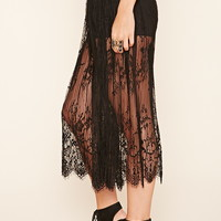 Pleated Eyelash Lace Skirt