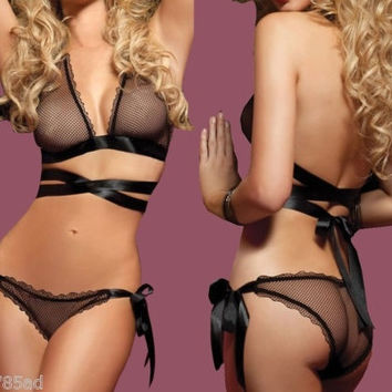 [flash Brand new Lace Sexy Women Lingerie Bra G-String Nightwear Knickers Underwear Sleepwear Set = 5988065089