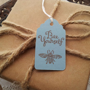 Bee Yourself Mini Tags Set of 10