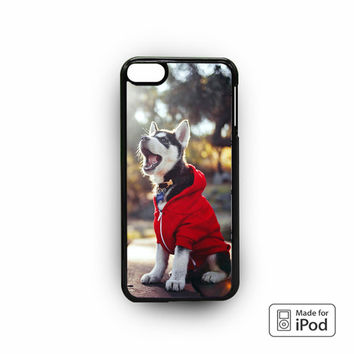 Cute Husky Puppy for iPod 6 apple cases