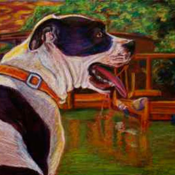 Pet Portrait, Custom Fine Art from your Photo, example- Good Day on the Boat