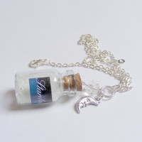 Stardust Bottle Necklace Pendant  - Miniature Food Jewelry