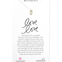 Dogeared   Silver Love Love Necklace