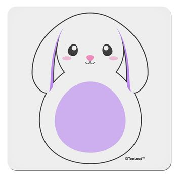 "Cute Bunny with Floppy Ears - Purple 4x4"" Square Sticker by TooLoud"