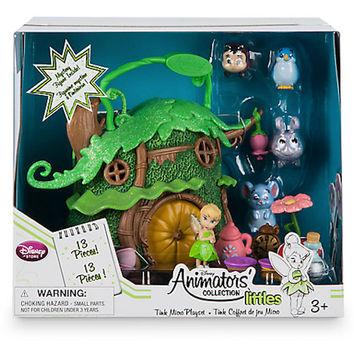 Disney Store Animator's Collection Littles Tinker Bell Micro Doll Playset New with Box