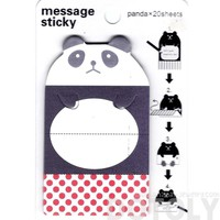 Panda Bear Shaped Animal Themed Adhesive Memo Message Post-it Letter Paper Sticky Pad