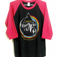 Pink floyd Raglan tshirt Long sleeve tee Men Women by ISUBWAY