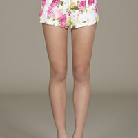 Jealous Tomato High Rise Floral Shorts