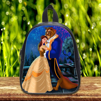 Disney Beauty and the Beast on Kid School Bag Backpack