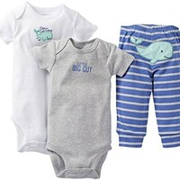 Carter's Baby Boys' 3 Piece Set - Blue - Newborn