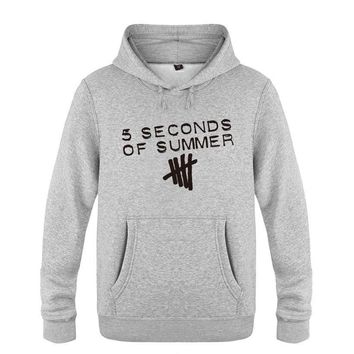 5 Seconds of Summer Hoodie Cotton Winter Teenages 5 Seconds of Summer 5SOS Sweatershirt Pullover Hoody With Hood For Men