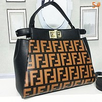 FENDI Fashion women new more letter leather handbag crossbody shoulder bag satchel
