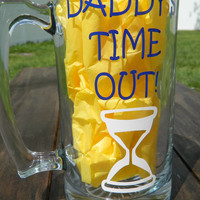 Daddy's Time out Mug! Great baby shower gift for the new dad or Fathers day gift. Personalize with a name free!
