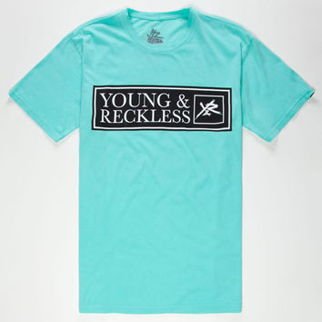 Young & Reckless Spike The Punch Mens T-Shirt Mint  In Sizes
