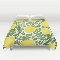 The Fresh Lemon Duvet Cover by Haidishabrina