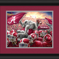 "Alabama Crimson Tide Celebration Print 15""x18"""